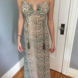 Victoria's Secret snake print dress